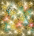 New Year colorful fireworks Seamless textur vector image