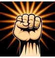 Raised Fist Symbol vector image vector image