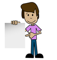 Cartoon man with a white background vector image vector image