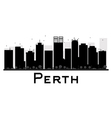 Perth silhouette vector image