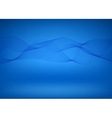 Blue wave background vector image