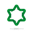 ecological green Star with arrows vector image