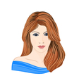 Girl-young vector image