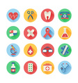 Medical icons in trendy flat style vector image