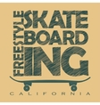 Skateboarding t-shirt graphics vector image