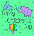 design style childrens day collection vector image