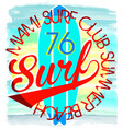 surf t-shirt graphics typography pacific surf vector image