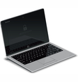 Tablet Left Side View with Silver Keyboard Dock vector image vector image