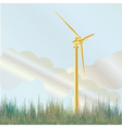 wind turbine in field vector image