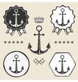 anchor vintage symbol emblem label collection vector image