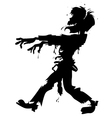 Walking zombie silhouette vector image