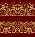 gold floral seamless border vector image vector image