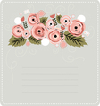 Floral stationary background vector image