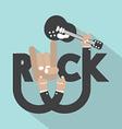 Rock Typography Design vector image