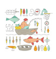 Fishing Gear vector image
