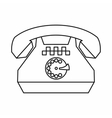 Taxi phone icon outline style vector image