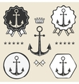 anchor vintage symbol emblem label collection vector image
