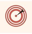 darts bullseye icon game fun red circle vector image