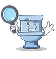 detective toilet character cartoon style vector image