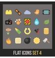 Flat icons set 4 vector image