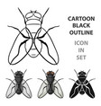 fly icon in cartoon style isolated on white vector image
