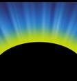 full solar eclipse vector image