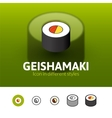 Geishamaki icon in different style vector image