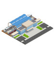 isometric infographic element railway vector image