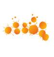 orange watercolor paint drops vector image
