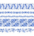 russian traditional elements set of horizontal vector image