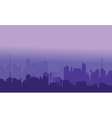 Silhouette of city with purple color vector image