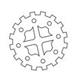 single gear icon vector image