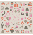 Collection love vector image