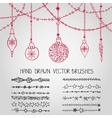 Christmas garland brushesballs vector image