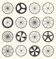 Bike Wheel Collection vector image vector image