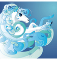 Winter horse2 vector image