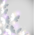 Abstract shining background with butterflies vector image vector image
