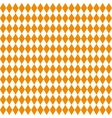 Seamless texture of rhombuses White and orange vector image