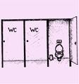 public toilet cubicle vector image