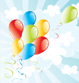 balloons flying in the sky vector image vector image