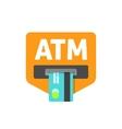 ATM sign  cash machine vector image