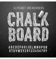 Chalk alphabet letters and numbers vector image