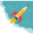 Pencil - Rocket vector image