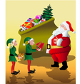 Santa with elves vector image