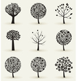 Collection of trees4 vector image vector image