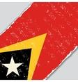 Timor-Leste grunge flag vector image