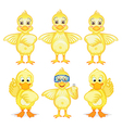 Six ducklings vector image vector image