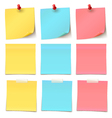 Beauty-Post-it-note-Collection- vector image vector image