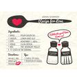 Recipe card creative Wedding Invitation design vector image