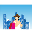 Shopping Lady vector image
